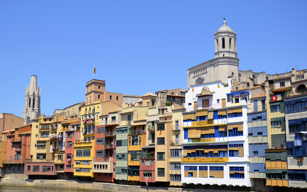 View Of Colorful Houses At Girona